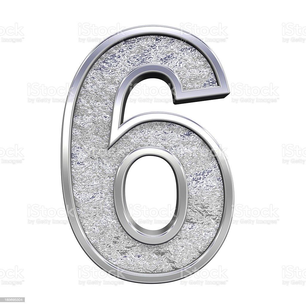 One digit from chrome cast alphabet set royalty-free stock photo