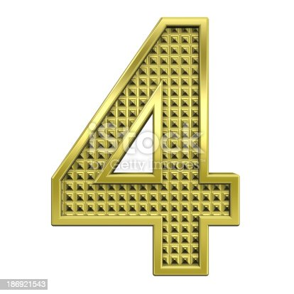 istock One digit from knurled gold alphabet set 186921543
