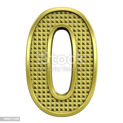 istock One digit from knurled gold alphabet set 186921546