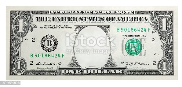 istock One Dollar Bill without some original art 524624823