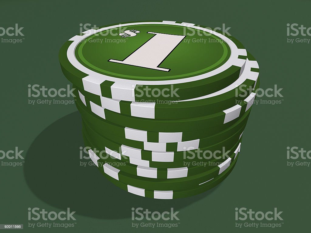 One dollar chips royalty-free stock photo