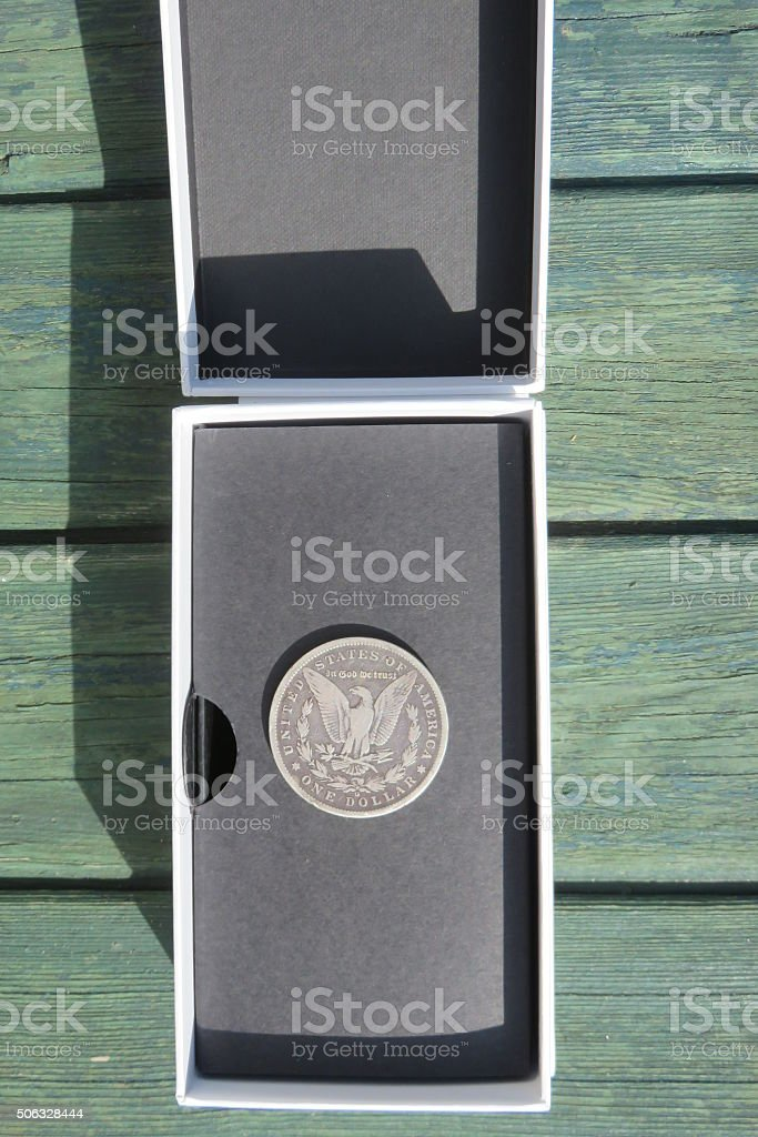 One Dollar Coin stock photo