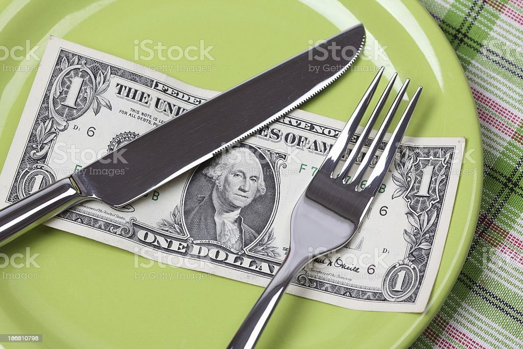 One Dollar Diet royalty-free stock photo
