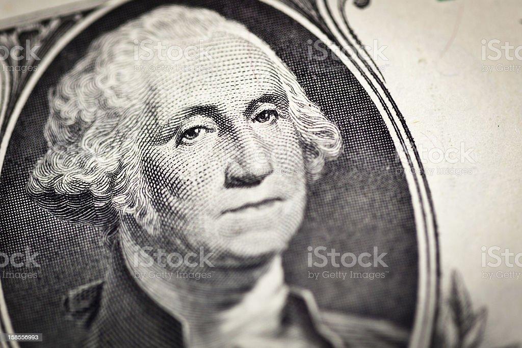 1 달러 조지 워싱턴 왜고너의 변모시키십시오 royalty-free 스톡 사진