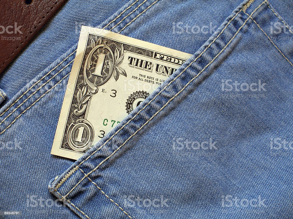One dollar stock photo