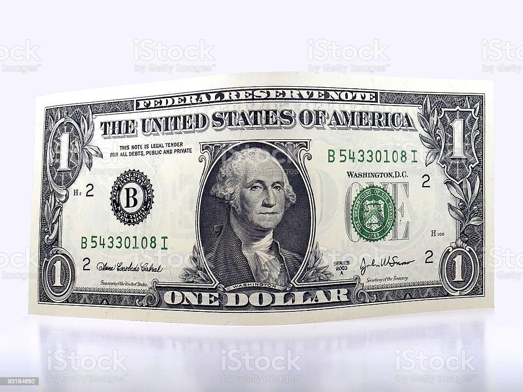 one dollar royalty-free stock photo