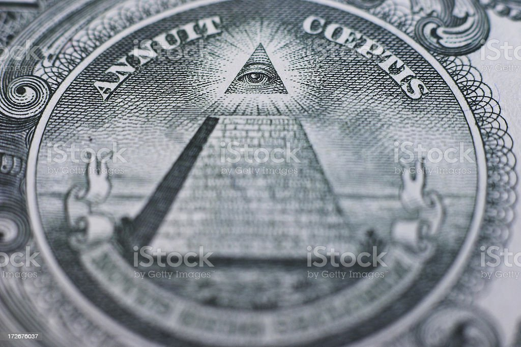 One dollar seal only sharpness on the eye royalty-free stock photo