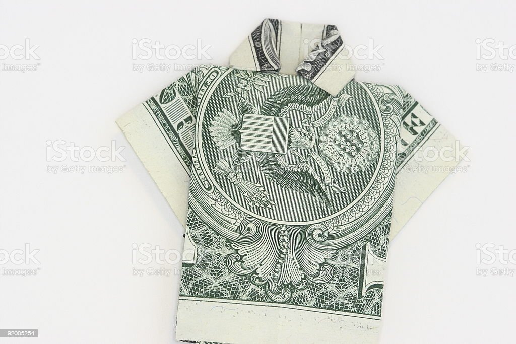 $1 DOLLAR BILL FOLDED INTO A SHIRT AND TIE (ORIGAMI). Makes A ... | 683x1024