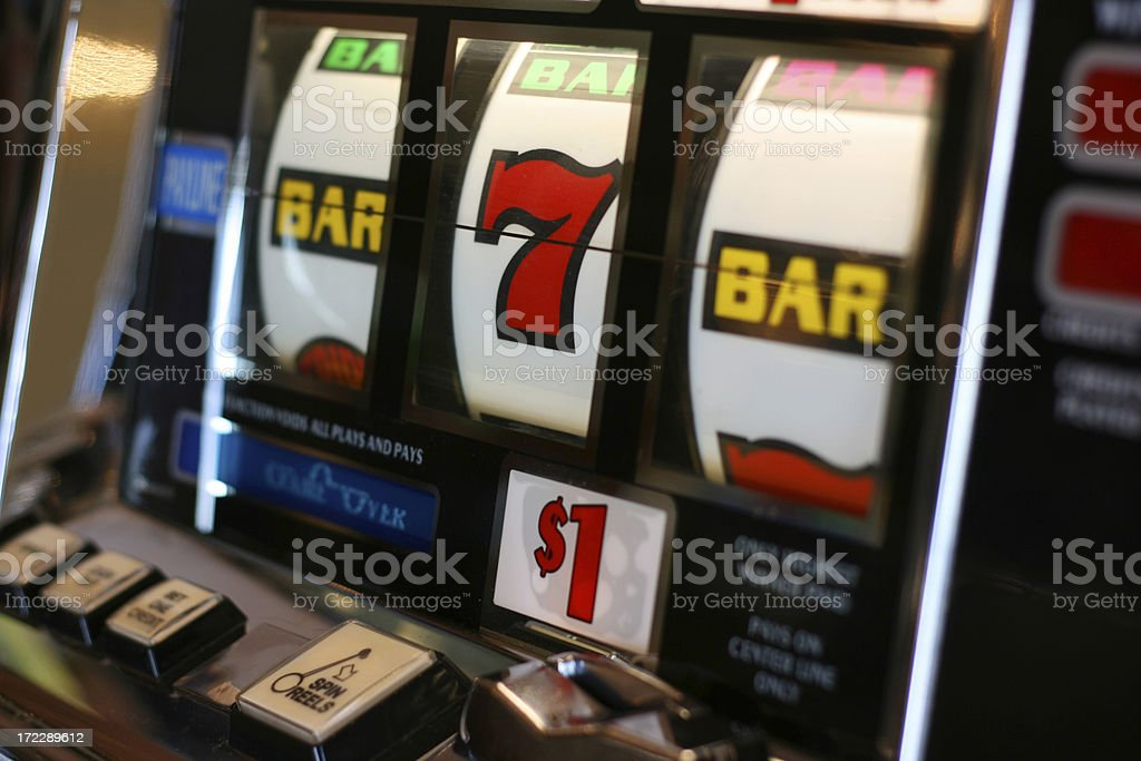 One Dollar Slot Machine royalty-free stock photo
