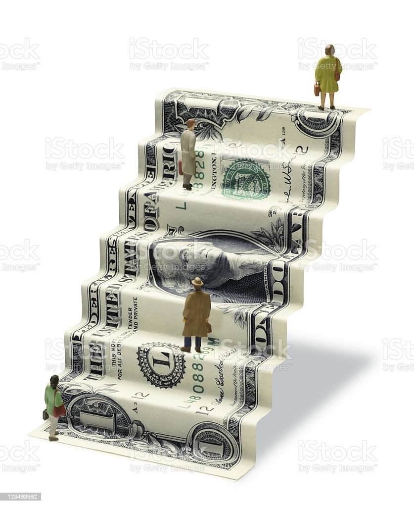 one dollar stairs royalty-free stock photo