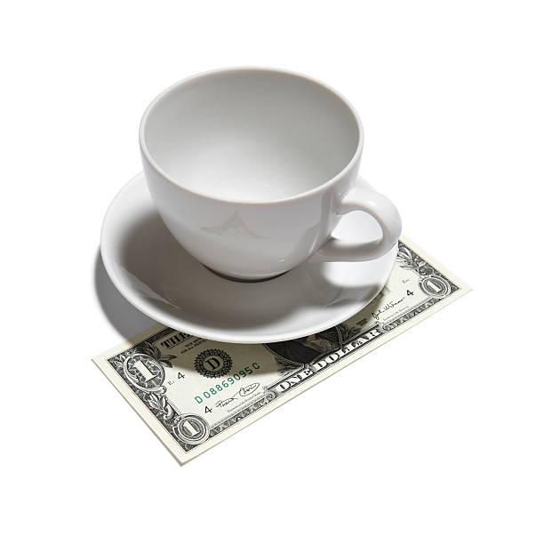 one dollar tip stock photo