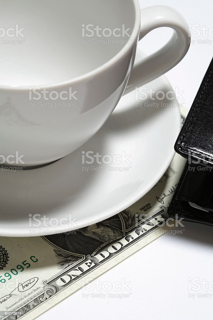 one dollar tip royalty-free stock photo