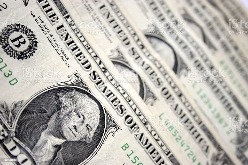 one dollars, Washington royalty-free stock photo