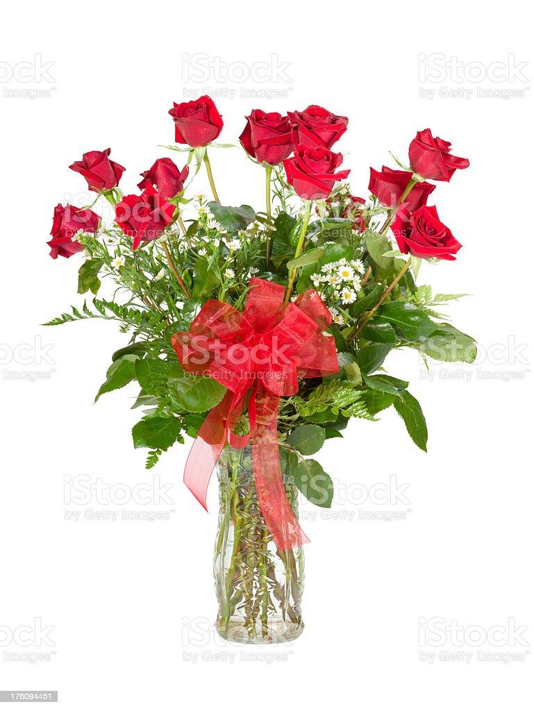 One Dozen Red Roses royalty-free stock photo