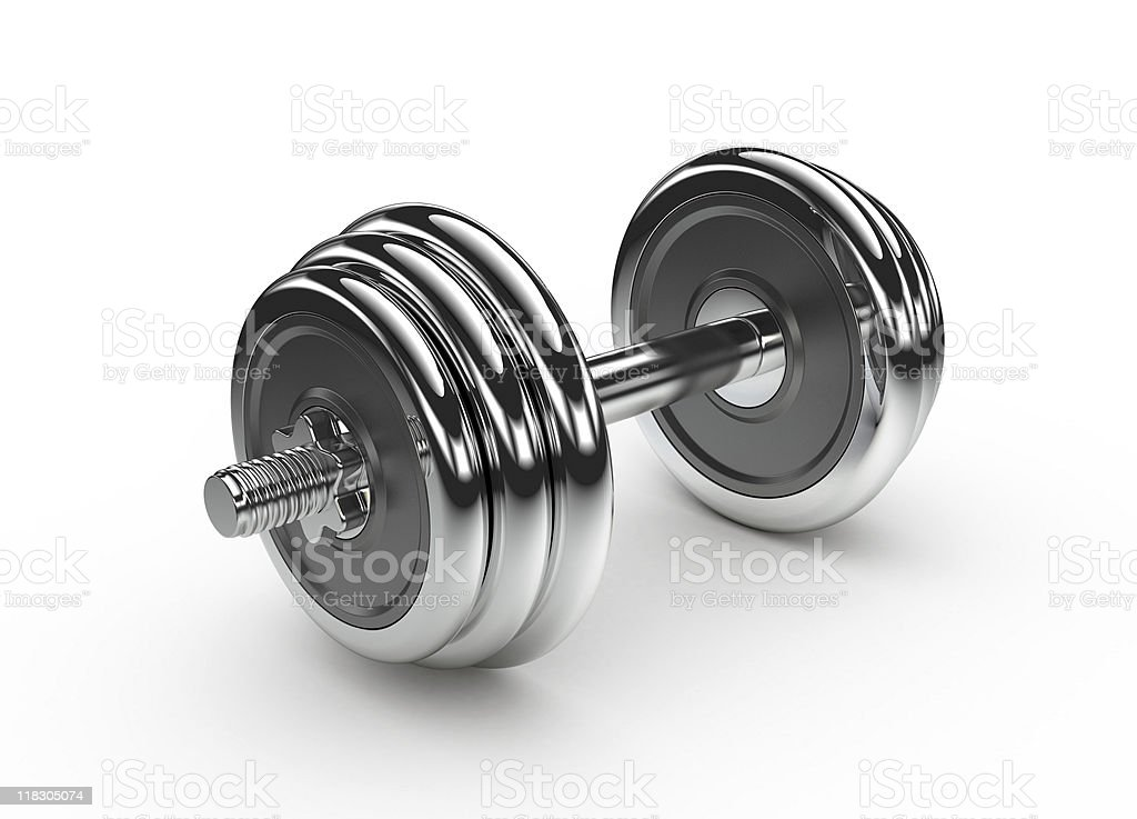 One dumbbell royalty-free stock photo