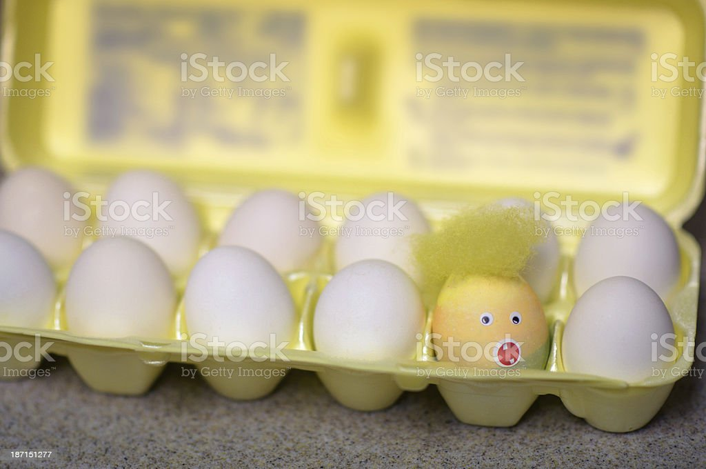 One dyed Easter egg gone wild stock photo
