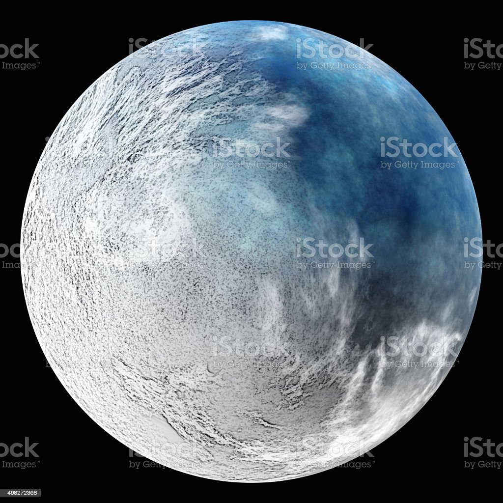 one earth planet after ecology catastrophe. nuclear winter stock photo