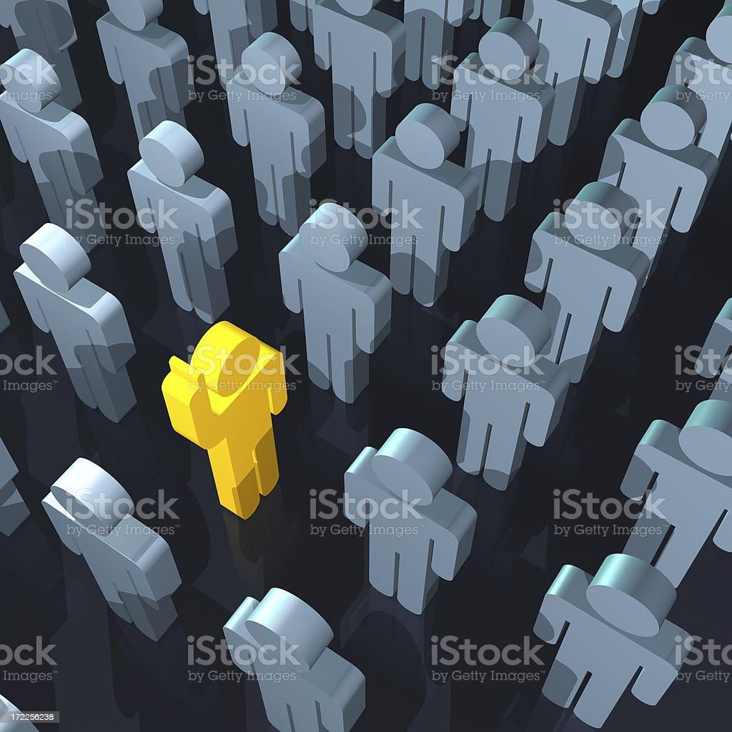 One Employee Standing Out(XL) royalty-free stock photo