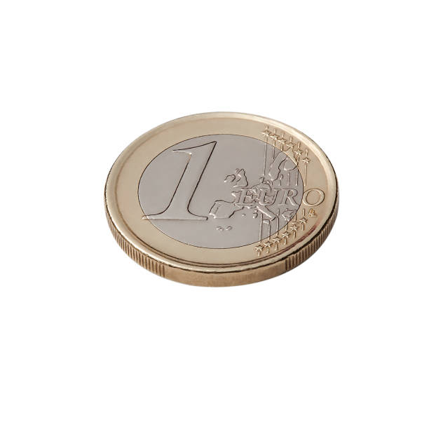 One Euro coin isolated on white background Europe, Euro currency, Business and Finance coin, number 50 european union coin stock pictures, royalty-free photos & images