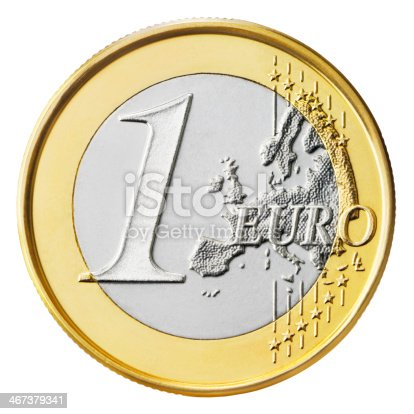 One Euro coin isolated on white background  More like this