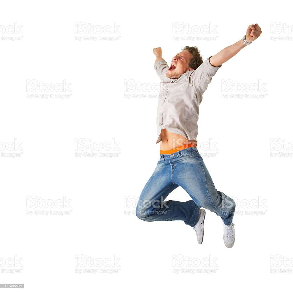 One extremely happy man! royalty-free stock photo