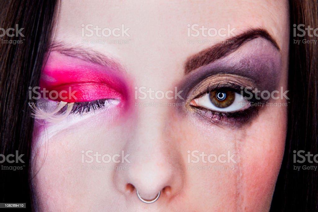 One Eye Open royalty-free stock photo