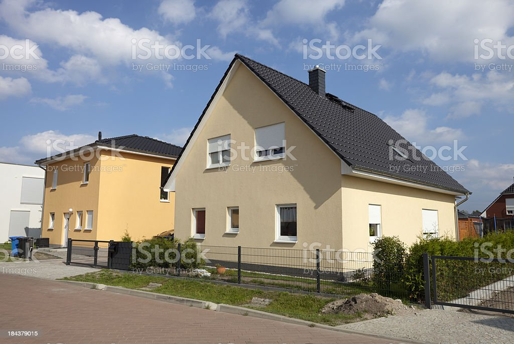 One family house in Germany royalty-free stock photo