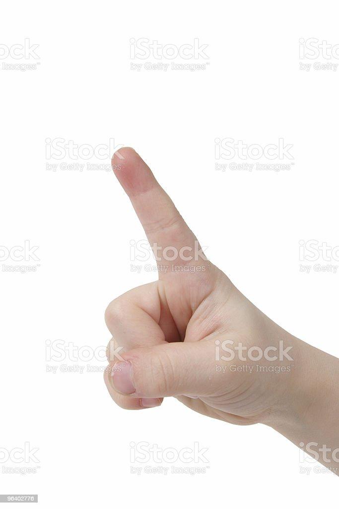 One Fingers - Royalty-free Animal Finger Stock Photo