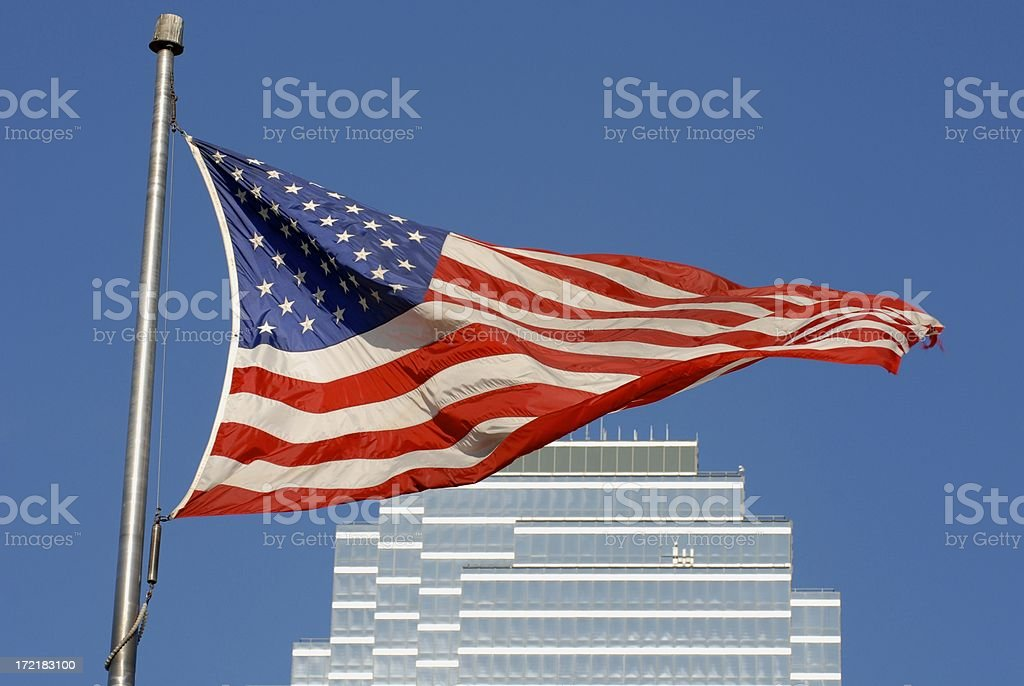 One Flag Over Texas royalty-free stock photo