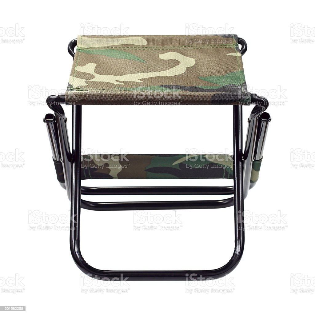 Admirable One Folding Canvas Chair Isolated On White Stock Photo Ncnpc Chair Design For Home Ncnpcorg