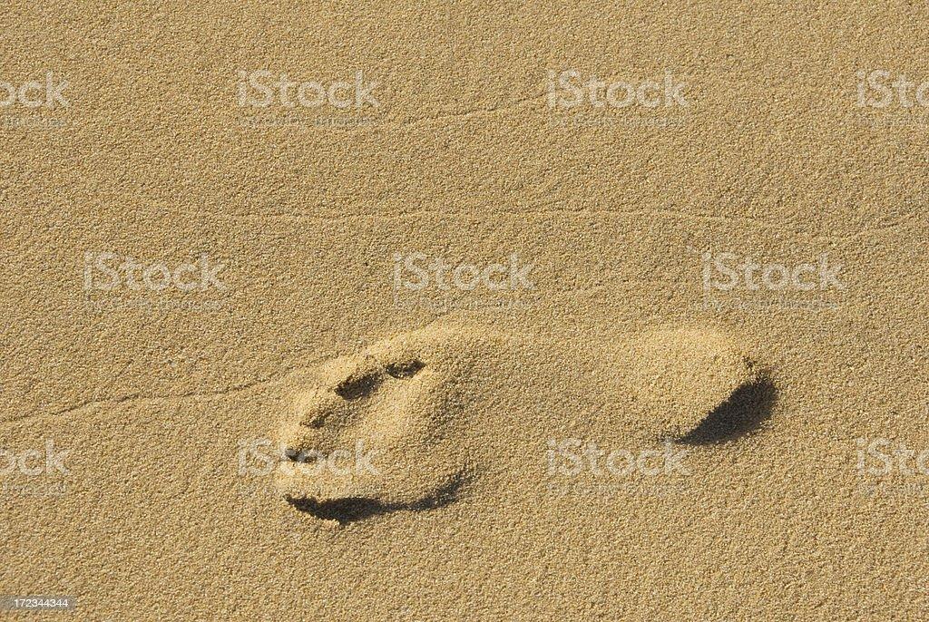 One Footprint stock photo