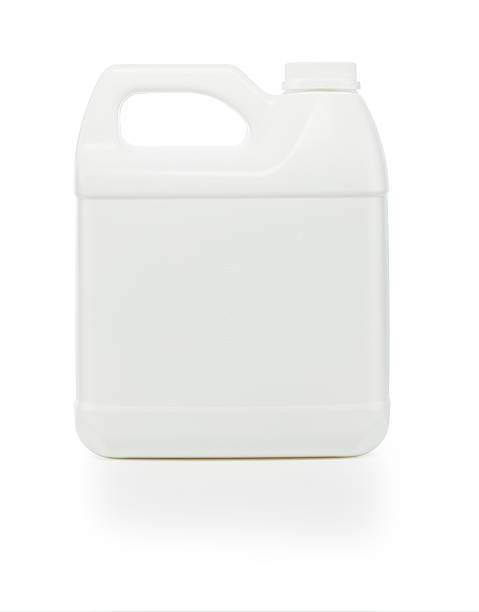 One Gallon Container Front view of a one gallon container photographed on a white background with a slight shadow. Clipping path is included. gallon stock pictures, royalty-free photos & images