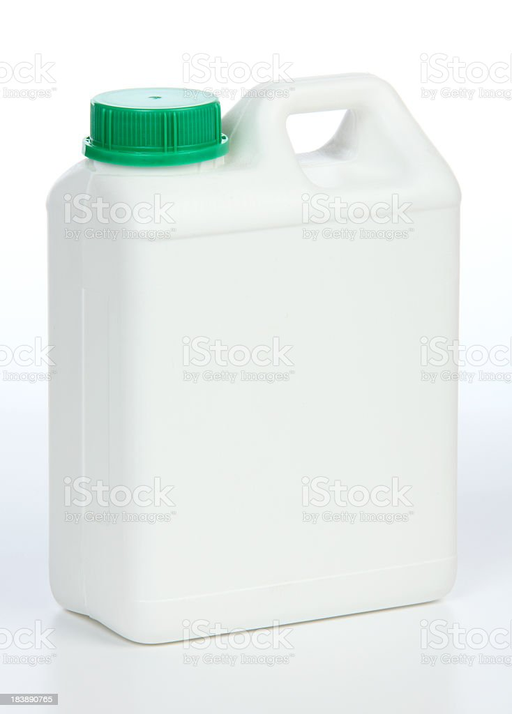 One gallon white jug with green cap royalty-free stock photo