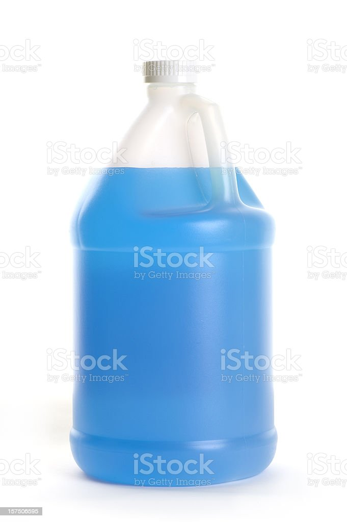 One gallon windshield wash solvent antifreeze & cleaner royalty-free stock photo