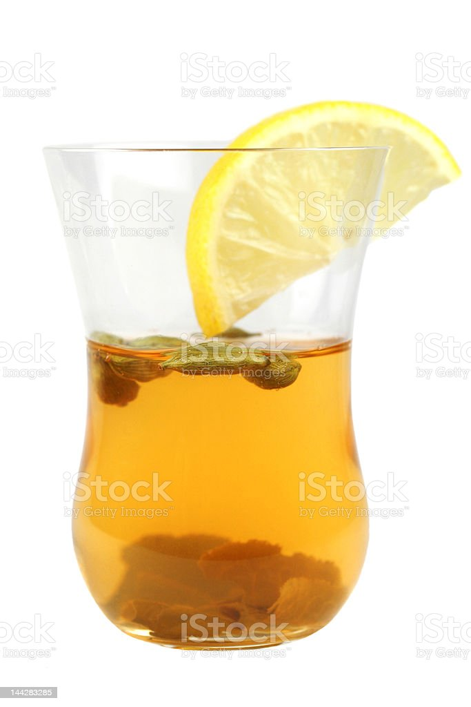 one glass of green tea royalty-free stock photo