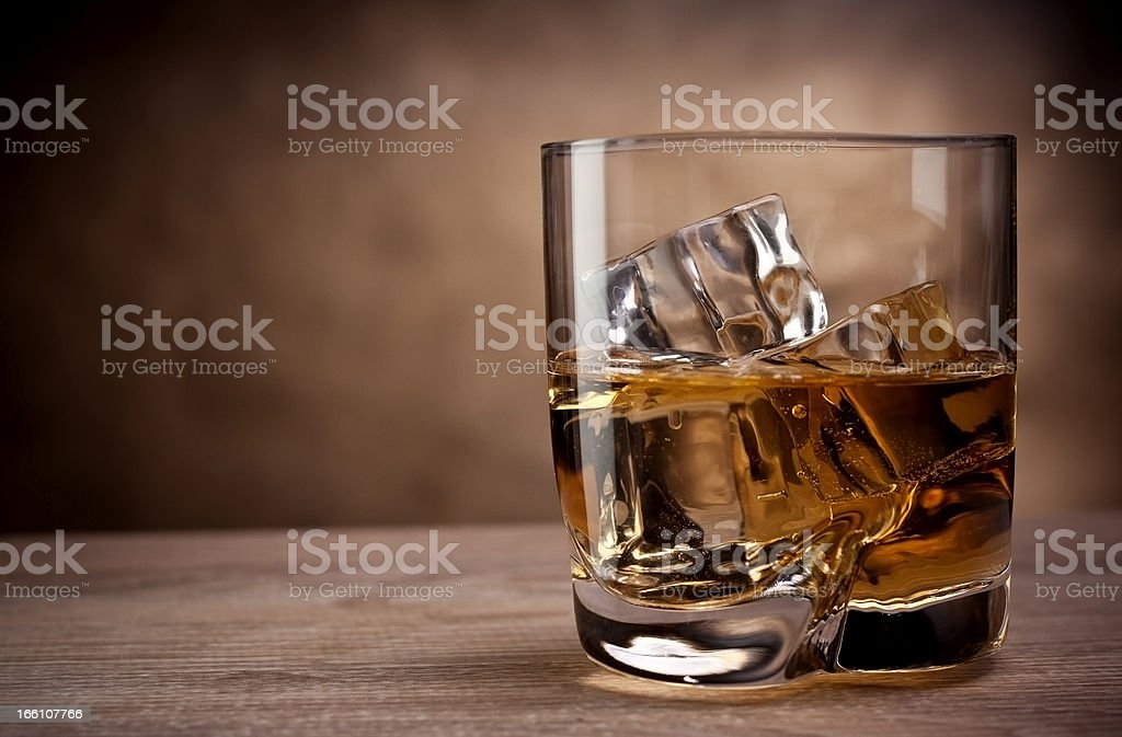 one glass of whisky - Royalty-free Alcohol Stock Photo