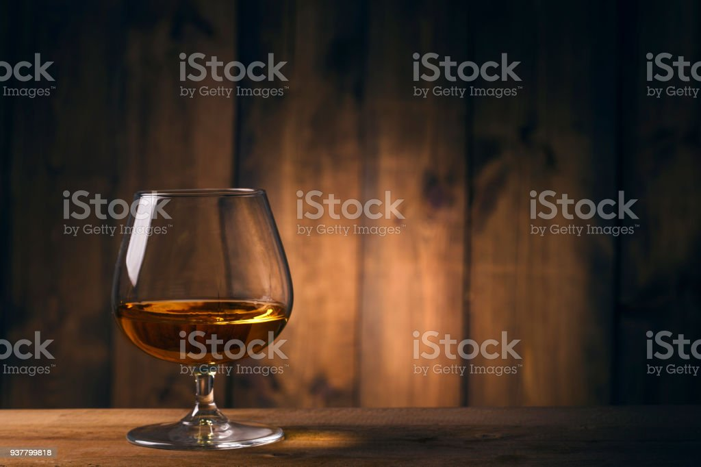 One glass of whisky stock photo