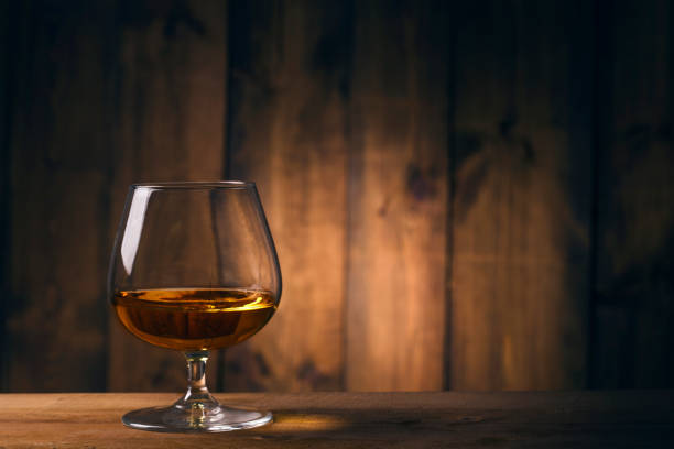 One glass of whisky One glass of whisky brandy stock pictures, royalty-free photos & images