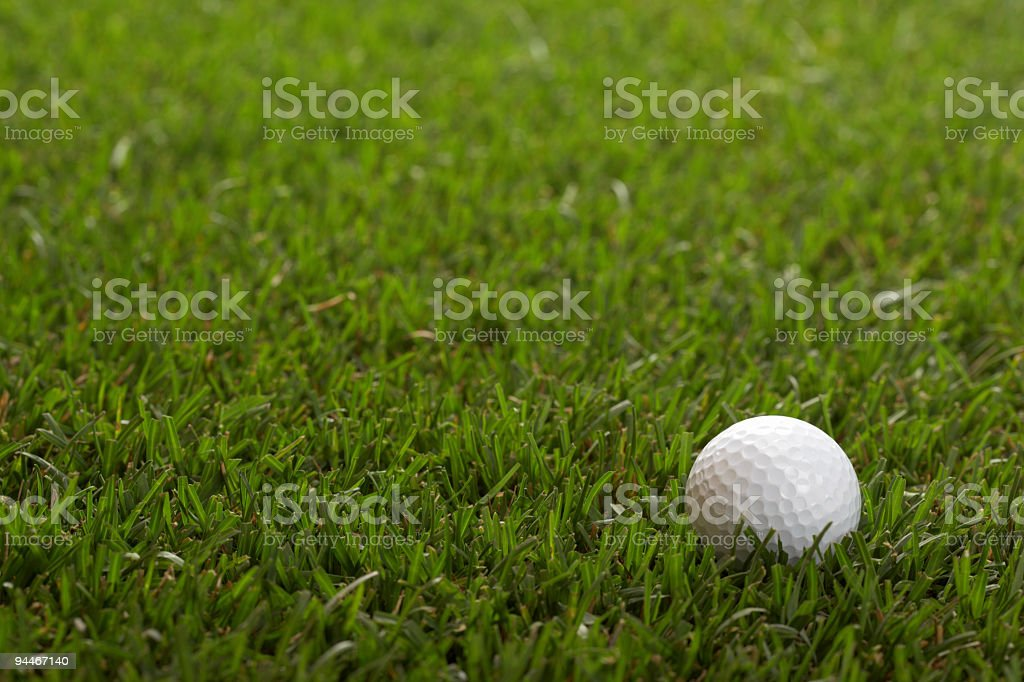 one golf ball royalty-free stock photo