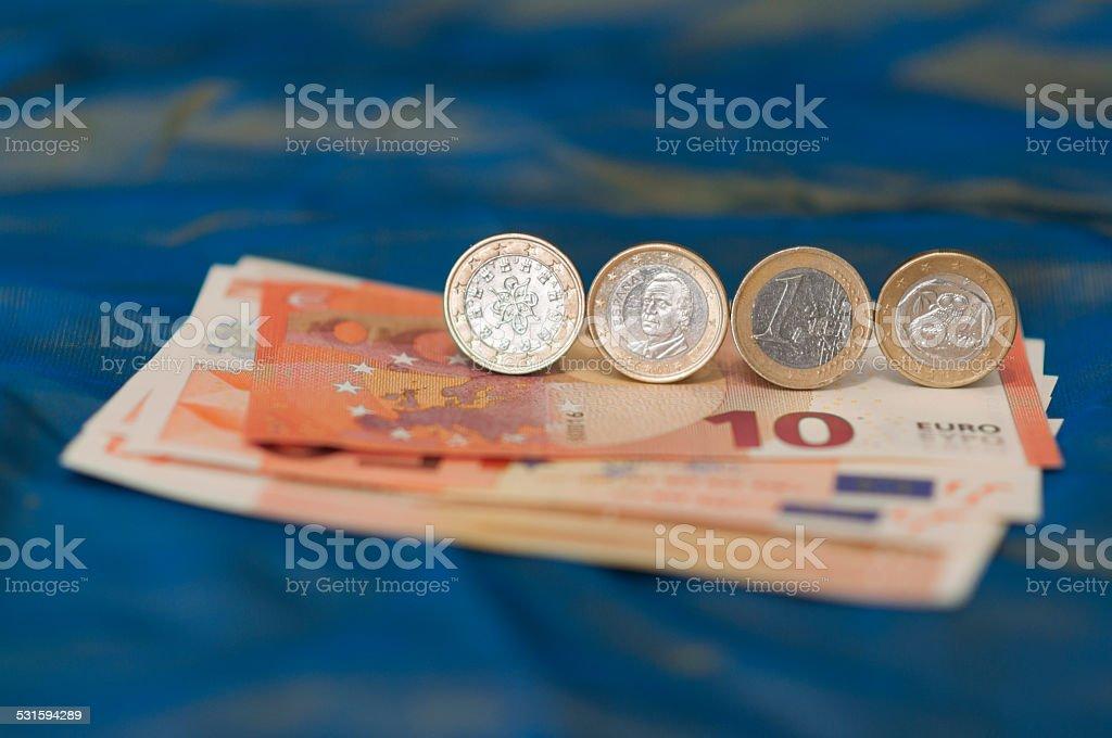 Eine griechische, portugiesischen und eines spanischen,-EUR – Foto