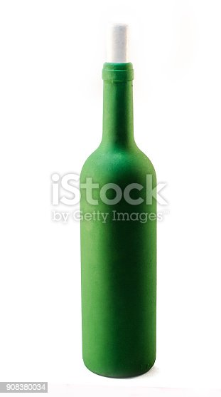 1073474208istockphoto One green bottle on a limited background 908380034