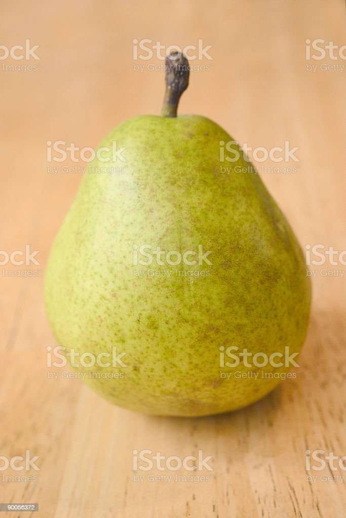 One green pear stock photo