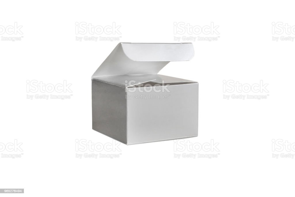 One grey open box zbiór zdjęć royalty-free