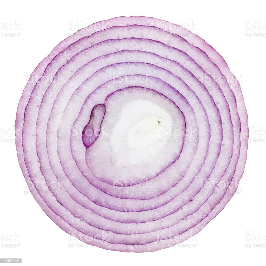 one half of onion stock photo