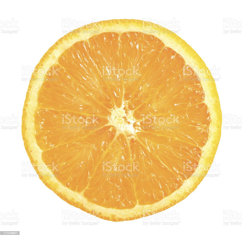 one half of orange stock photo