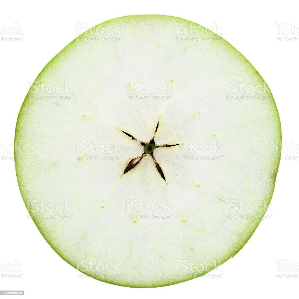 one half of \tgreen apple stock photo