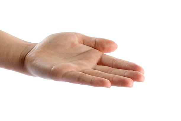 una mano aperta isolato - palmo foto e immagini stock
