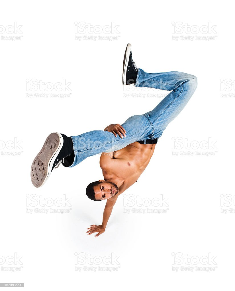One hand stand royalty-free stock photo
