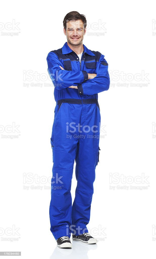One handsome grease monkey! stock photo