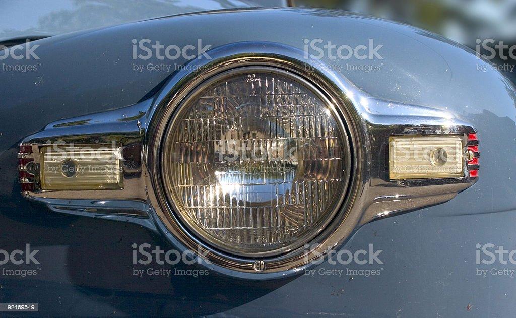 One headlight stock photo